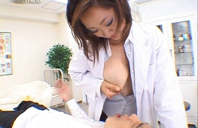 Kaori Hot Asian doll fondles her tits and gets her pussy licked
