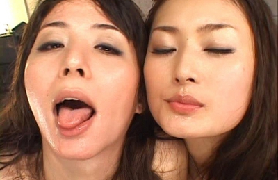 Yuko and Risa Asian dolls take part in a wild orgy