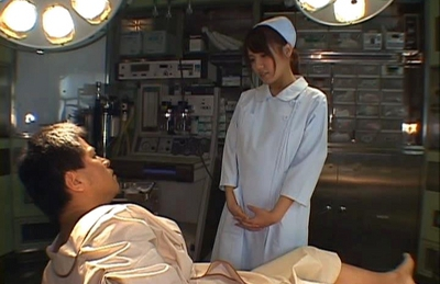 Hot Japanese nurse gets a hard fucking