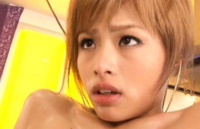 Momoka Kanoh Lovely Asian model gets her hairy cunt fucked