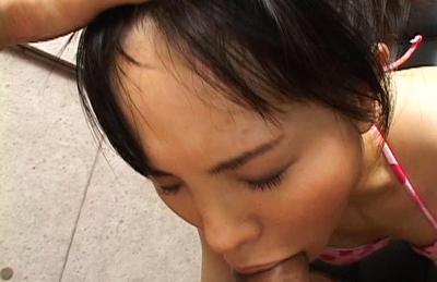 Nene Mukai Beautiful Asian doll sucks a huge dick