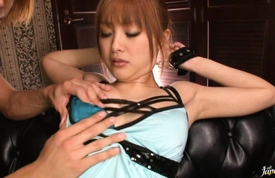 Suzuka Ishikawa Asian babe is tied up and getting her pussy drilled