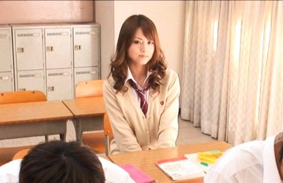 Akiho Yoshizawa Asian model is hot in her school uniform