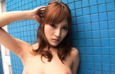 Kirara Asuka Asian beauty shows off her body in the shower