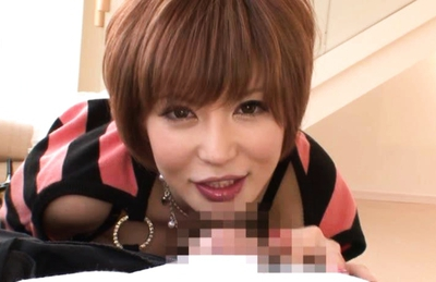 Yuria Satomi Japanese doll gets juicy pussy fingered and fucked by two guys
