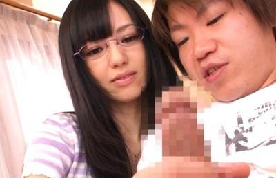 Aino Kishi Lovely Japanese model in sunglasses sucks cock