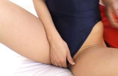 Flexible Maria Ozawa in swimsuit fucks two dudes