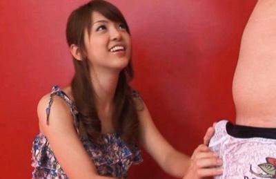 Sexy teen Sayuka Fukuyama blowjob scene takes cum in mouth