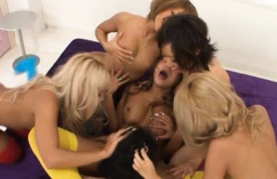 Horny AV Model Chicks Fuck Each Other And Cocks
