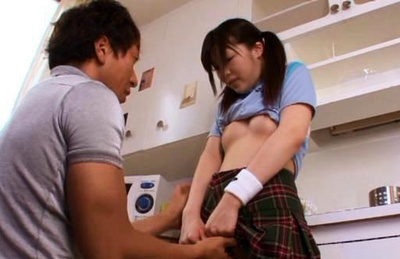 Marin Natsukaze pretty Asian model gets her snatch licked
