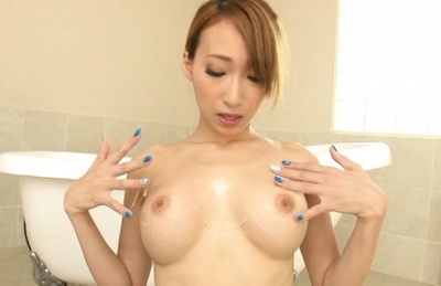 Superb Claire Hasumi enjoys hard sex and hand work