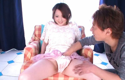 Sensuous Japanese girl Yui Sasaki gets her pink kitty drilled
