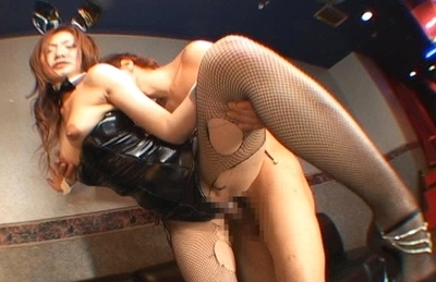 Emi Harukaze Lovely Asian doll in a rabbit costume is sexy and hot