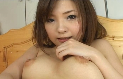 Mika Sonohara Pretty Asian model has fun with her pussy