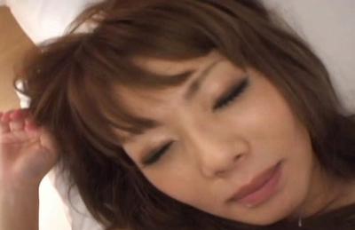 Aya Fujimoto Asian doll has a nice ass and enjoys doggy sex