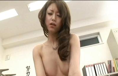 Akiho Yoshizawa Lovely Asian teacher likes getting fucked hard