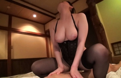 Busty Japanese milf Sena Minami receives big cock to play with