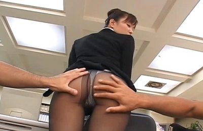 Yua Aida Naughty Asian stewardess is on the prowl for cock