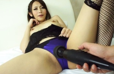 Hot milf with tiny tits Ayu Sakurai gets her pussy fingered and drilled
