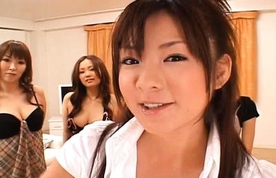 Japanese AV models enjoy cock riding at parties
