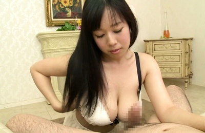 Sultry Japanese brunette Tsukada Shiori gives pleasure to hard cock
