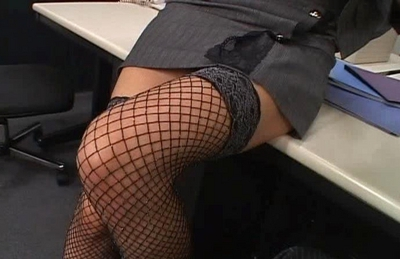Japanese AV model enjoys a hard fucking in the office