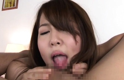 Curvaceous Asian model Nanami Nishino rides cock on close-up vid