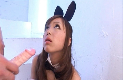 Anri Hoshizaki Hot Asian model in a bunny suit has a sexy body