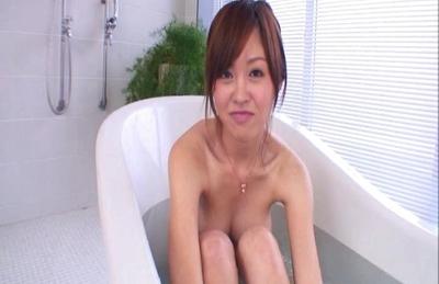 Rika Sugasaki Hot Asian chick enjoys a cock in the bathroom
