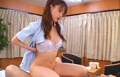 Akiho Yoshizawa Naughty Asian nurse enjoys fucking with the patients