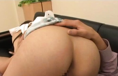 Horny Tokyo teen Rio gets licked and fucked on the couch