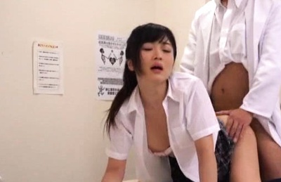 Haruki Riona gets her tight vagina screwed