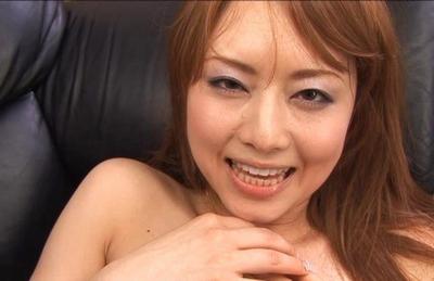 Akhio Yoshizawa Asian doll in sexy black lingerie gets fucked