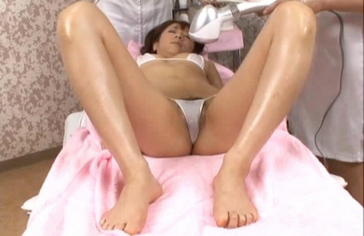 Yuka Osawa Asian doll enjoys being naked and massaged