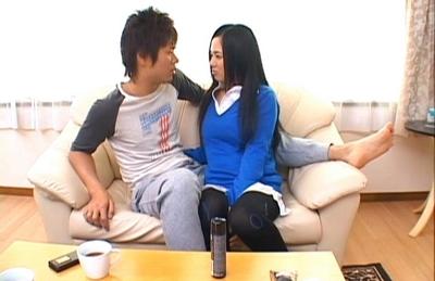 Sora Aoi Asian doll in a sexy uniform gives a blowjob